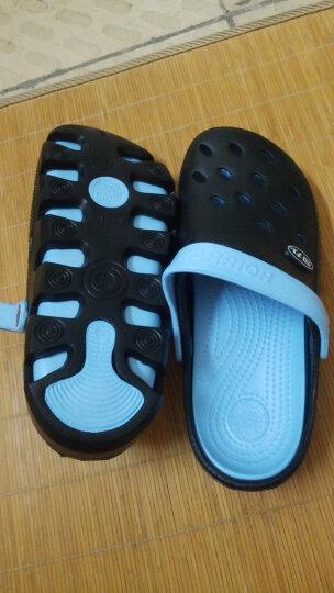 回力洞洞鞋沙滩鞋男夏季包头拖鞋男士女士情侣凉拖凉鞋 049 WXL-1066 黑色 43 晒单图