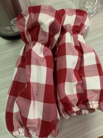 FaSoLa 围裙女 厨房防油防污袖套 罩衣 家居防护罩工作服 绿色半身式围裙 晒单图