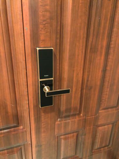 海尔(Haier)指纹锁智能锁电子锁密码锁家用防盗门锁门禁锁大门锁锁芯防盗锁左右开HL-31PF3 31-U APP版+100万保险+三年质保+包安装 晒单图