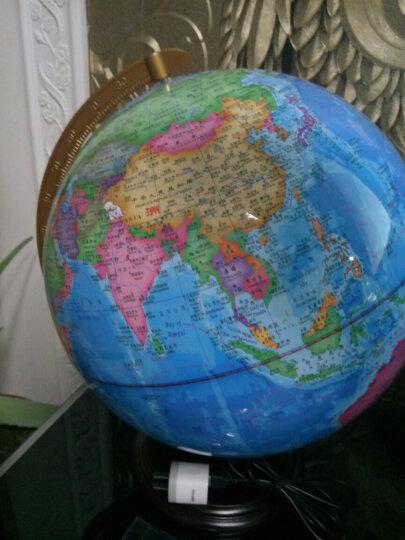 天屿 (TIAN YU)32cm大号学生用地球仪 高清2019教学LED带灯光摆件儿童礼物 32cm高初中小学用带灯木底 教学摆件地球仪 晒单图