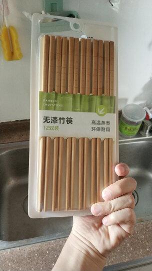 双枪(Suncha) 天然竹雕刻筷子 不易发霉家用酒店用竹筷子耐用餐具套装12双装KZ1923 晒单图