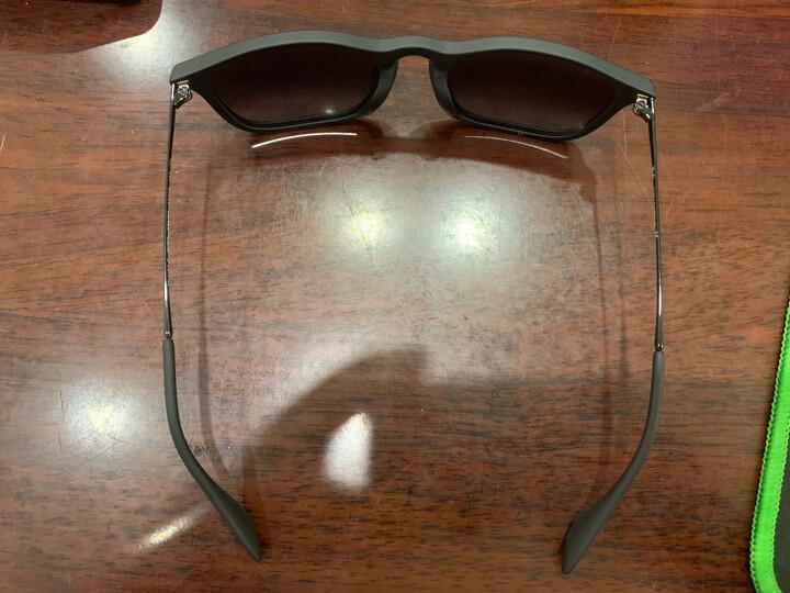 RayBan 雷朋太阳眼镜方形舒适简约潮流渐变色0RB4187F可定制 622/8G黑色镜框灰色渐变镜片 尺寸54 晒单图