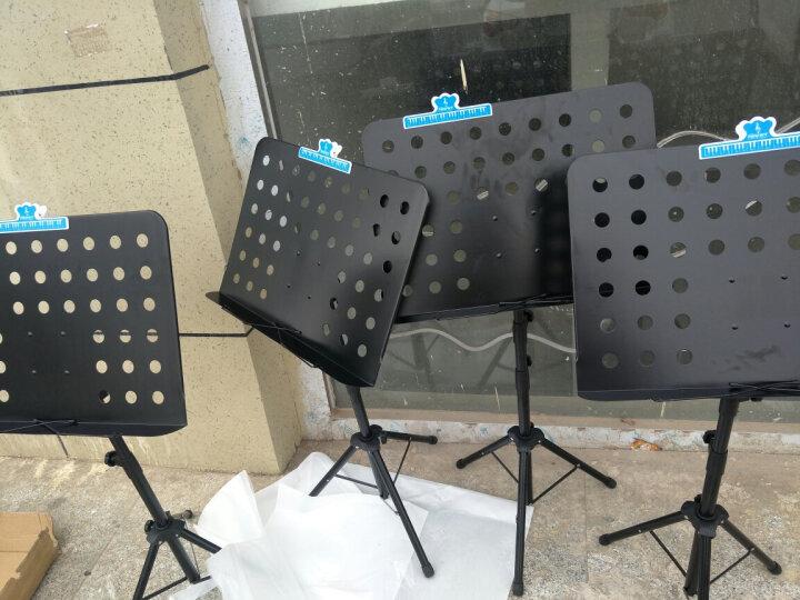 SOU 谱台乐谱架子 专业加粗可升降折叠乐谱台小提琴吉他古筝二胡通用便携谱架 黑色 晒单图