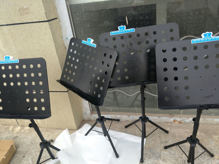 SOU 谱架谱台便携歌谱架吉他琴谱架子乐谱架小提琴谱架子古筝曲谱架子可调节高度伸缩折叠升降 蓝色标准款( 带书夹子) 晒单图