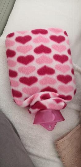 尚格兰 热水袋注水750ml 加厚加强暖手宝暖宝宝贴充水防爆暖水袋(小号 蓝色 内赠防烫外套) 晒单图