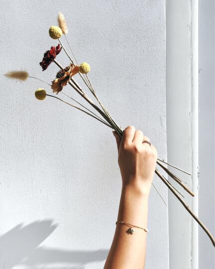 AFFINER 阿菲娜 14K彩金贝珍珠幸运四叶草黄金手链女款 时尚首饰品礼物送女友 AFB2013K 晒单图