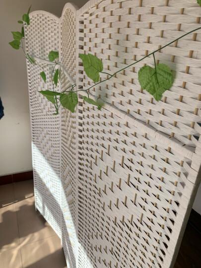 京好屏风隔断墙 包安装可折叠家用遮挡移动帘 镂空中式客厅办公室百搭美容院卧室酒店G157 原木色镂空 一扇高170宽40厘米 晒单图