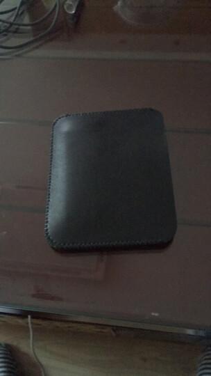 【X】超纤舒适小巧双层卡片包 零钱包公车卡地铁卡包收纳包 黑色 晒单图