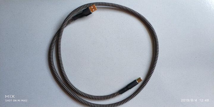 蛇神(SNAKESEN) 帕森 USB数据线 镀金屏蔽A-B方口连接线外接声卡DAC解码器升级线 1米 晒单图
