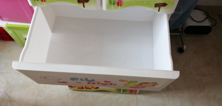 纳雅乐加厚抽屉式收纳柜 塑料宝宝衣柜婴儿整理柜储物柜儿童玩具五斗柜卡通塑料储物盒衣柜 新-终身美丽 七层58*40*160cm 晒单图