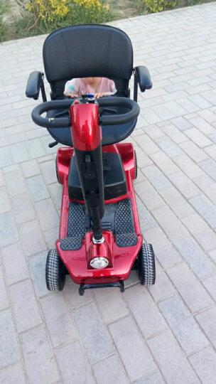 英格威 F35 F40老人代步智能四轮电动车残疾人助力车老人代步折叠车进口豪华款电动轮 【京送】F40红色配12A铅酸续航20-30KM 晒单图