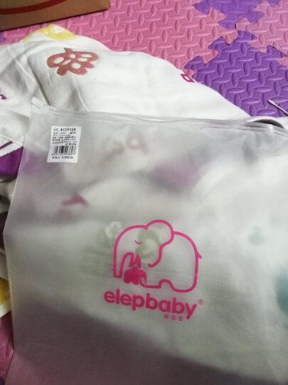 象宝宝(elepbaby)婴儿毯子 宝宝全棉纱布盖毯 提花浴巾包被巾毛巾被115X120CM(水果数字) 晒单图