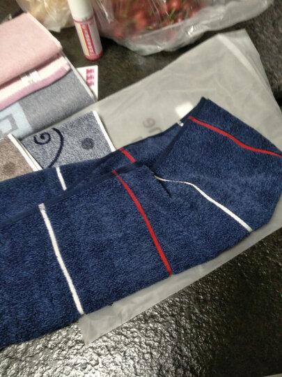金号纯棉毛巾家纺 提缎运动毛巾 蓝色2条装 120*25cm 125g 晒单图