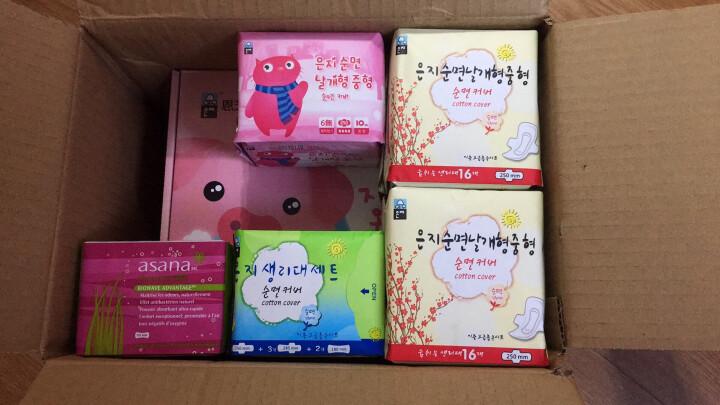 恩芝(Eun jee)猫小菲6无纤薄超长夜用卫生巾420mm/4片原装进口透气柔软防侧漏 晒单图