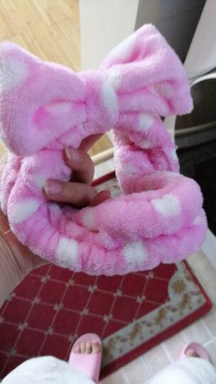 班哲尼 大蝴蝶结洗脸化妆束发带 女士发箍头箍发卡美容包头巾 粉绿条纹 晒单图