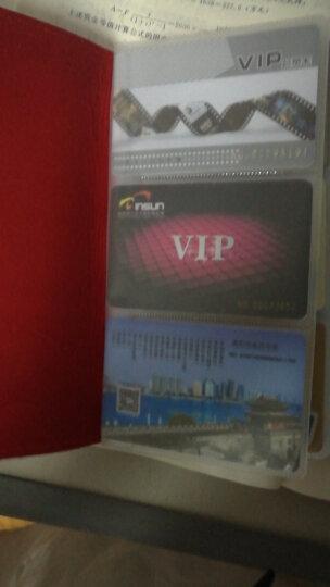 赖牌LAIPAI男女士卡包 108多卡位牛皮名片夹银行卡片包驾驶证套卡套 红色(牛皮) 晒单图