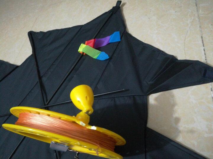 主调(ZHUDIAO) 潍坊风筝 大型风筝 隐形伞布飞机风筝 战斗机风筝 易飞 4米飞机-伞布碳纤维(颜色可定做) 晒单图