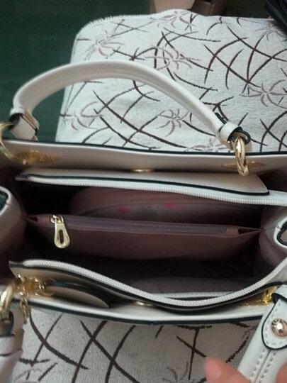 doodoo女包新品单肩包女手提女士斜挎手拎休闲新款大容量包包 米白色 晒单图