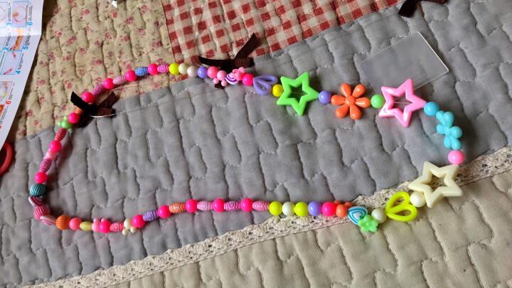 可爱布丁玩具女孩串珠约880粒DIY手工穿珠子儿童过家家玩具益智玩具3-6-8岁生日新年礼物 大24格春暖花开 晒单图