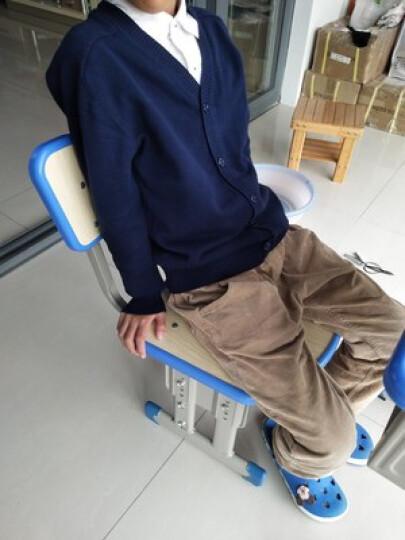 纯一良品童装男童开衫儿童毛衣宝宝针织衫中大童线衣外套男孩春秋装上衣 宝蓝色 150cm 晒单图