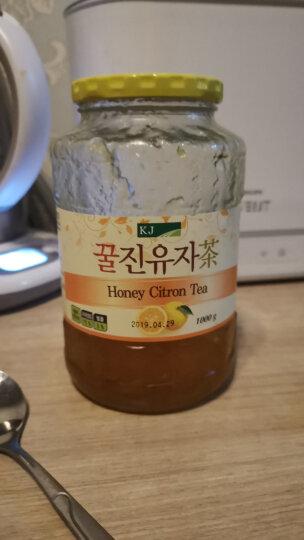 韩国进口 KJ蜂蜜柚子茶1000g 75%柚子含量 蜜炼水果茶 夏季果酱冲调饮品 晒单图