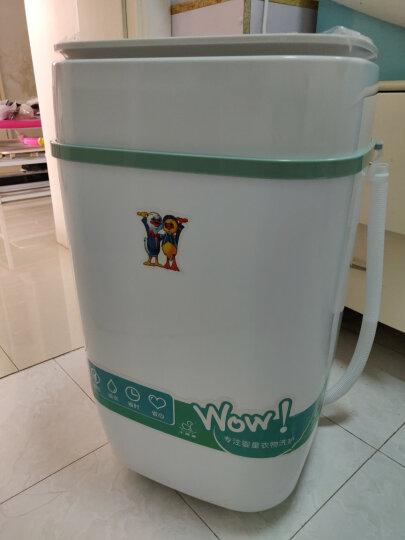 小鸭 3.5公斤迷你洗衣机 半自动单桶婴儿童小洗衣机 蓝光款 抹茶绿 XPB35-1708 晒单图