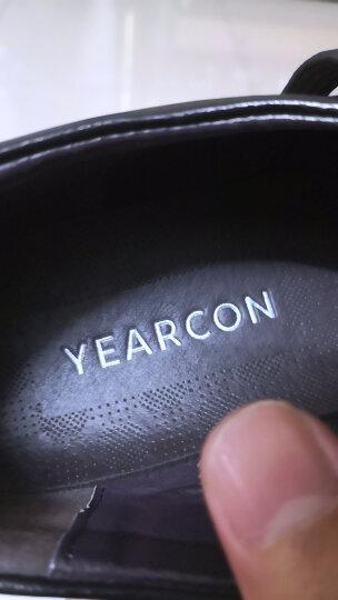 意尔康皮鞋男经典商务休闲男鞋牛皮软面轻便舒适系带单鞋8441ZR97036W 棕色 42 晒单图