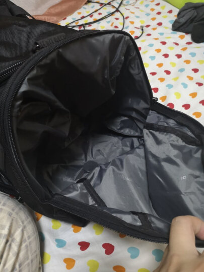 艾奔时尚大容量行李袋短途出差旅行包耐磨男士商务手提行李包健身包 暗红 22英寸 晒单图