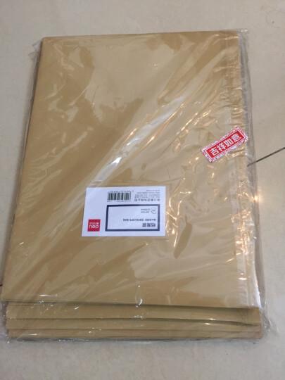得力(deli)12只A4防水档案袋 PP材质耐折文件袋 复古黄5910 晒单图