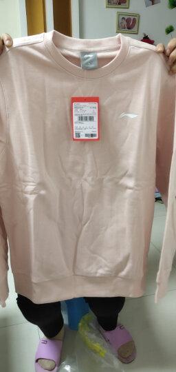 李宁官方卫衣男套头无帽运动服运动生活系列男装AWDL313 花灰 XL 晒单图