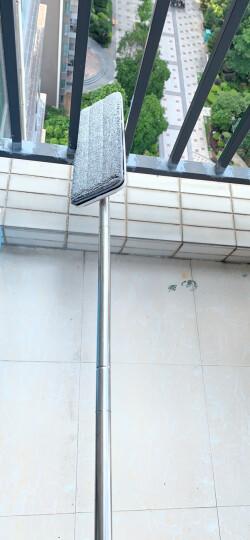 家杰优品 免手洗平板拖把 干湿两用拖布 家用墩布网红懒人地拖 2块配布 晒单图