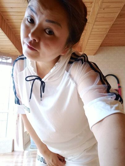 迪拉娜2019夏季连衣裙新款欧根纱休闲短裙裤运动套装时尚两件套裙子 黑色 M 晒单图