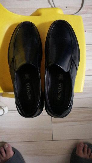 Senda/森达男鞋皮鞋商务职业休闲鞋牛皮舒适简约GD102CM8 黑色 42 晒单图