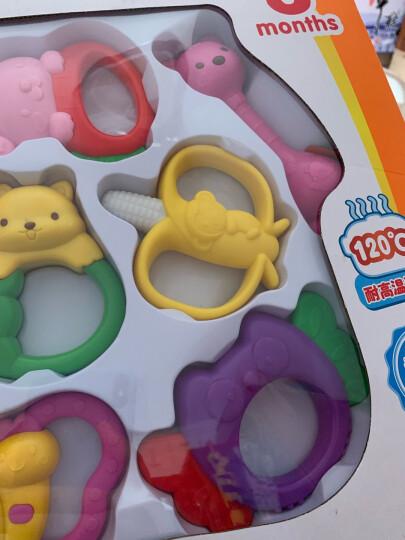 澳贝(AUBY)儿童宝宝牙胶手抓球婴儿磨牙棒摇铃0-1岁高温消毒无涂料男女孩玩具464418DS 晒单图