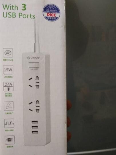 奥睿科(ORICO)XCS-2A3U 新国标3C认证 USB智能充电插座/插线板/接线板/排插/插排 总控开关 1.5m线长 白 晒单图