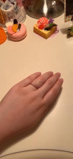 周生生 Fingers Play「指玩」18K金戒指红色黄金戒指粉红色蓝宝石戒指 88056R 15圈 晒单图