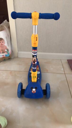 迪士尼(Disney)儿童滑板车 2-3-6-8岁小孩 闪光滑步车摇摆车 可折叠升降宝宝平衡车脚踏车 米奇 晒单图