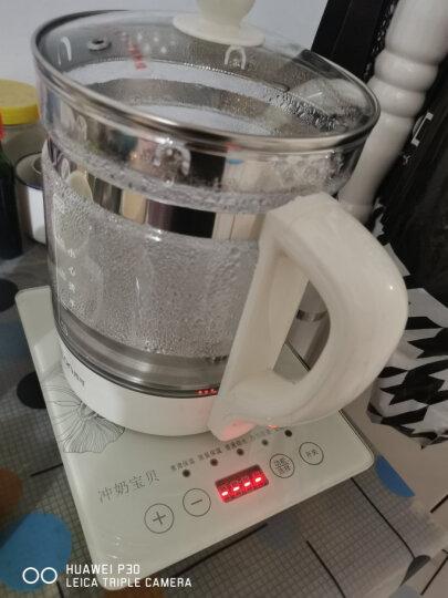 西可(CECON)恒温调奶器 恒温水壶 婴儿恒温水壶奶瓶消毒器温奶器玻璃不锈钢多功能冲泡奶粉机电水壶 绿色608A(多功能款) 晒单图