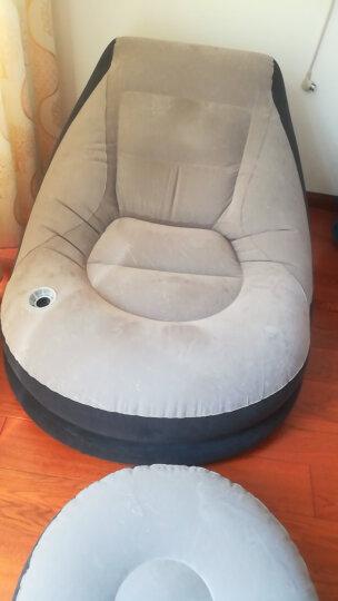 午休沙发午睡充气沙发懒人单人沙发床卧室时尚创意休闲折叠椅子躺椅折叠办公室家 【特价】绿搁脚沙发+电气泵 晒单图