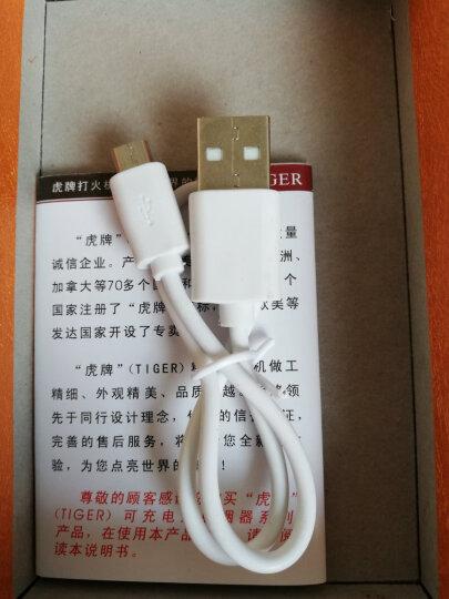 虎牌抖音同款指纹USB电子打火机充电个性送男友创意防风超薄定制 959黑(靠脸吃饭) 晒单图