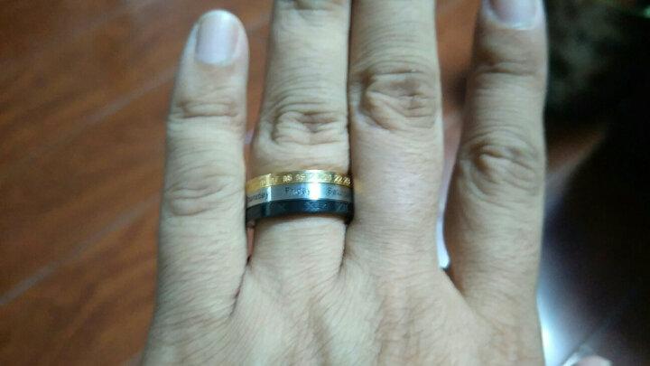 翼力 戒指男潮 欧美男士饰品个性尾戒指环 霸气食指中指戒子 罗马数字可转动 可刻字 美号09号(内直径18.9mm) 晒单图