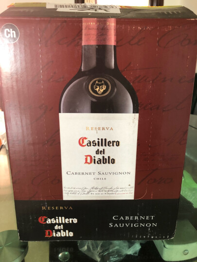 智利进口红酒 干露酒厂 红魔鬼 黑皮诺 红葡萄酒 750ml 晒单图