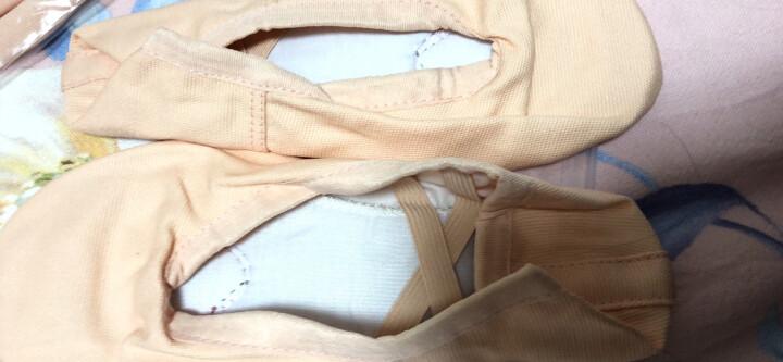 儿童舞蹈鞋女软底练功鞋男成人形体猫爪跳舞鞋红女童中国芭蕾舞鞋04款白色36码 晒单图