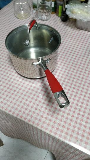 铂帝斯(BODEUX)红袖系列304不锈钢奶锅18CM 电磁炉燃气小奶锅 晒单图