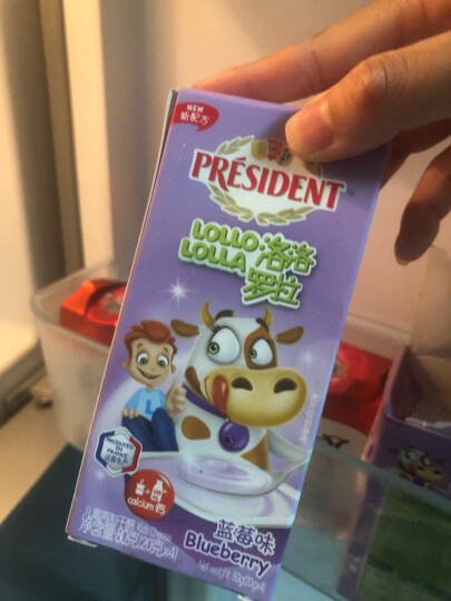 总统(President)儿童奶酪 蓝莓味 20g*4(2件起售)法国进口 再制干酪 零食  棒棒奶酪 晒单图