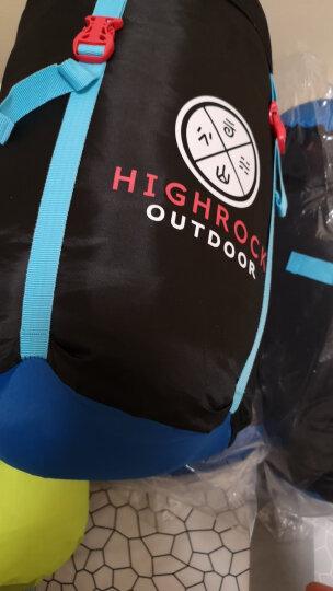 天石(HighRock)户外露营成人信封式双人情侣棉睡袋 咖啡色 晒单图