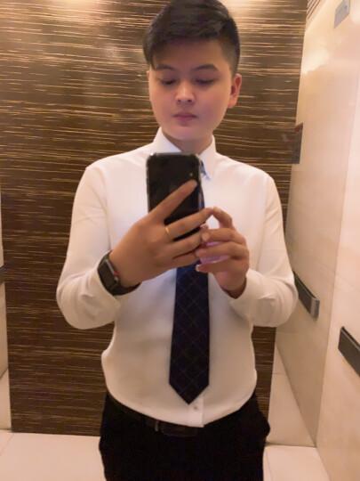 红豆 Hodo 男装男士商务正装修身牛津纺尖扣领长袖衬衫 灰色41 晒单图