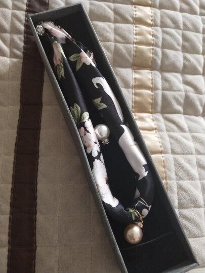 杭丝路 真丝项链丝巾女珍珠锁骨链百搭气质文艺围巾配饰 线条花(真丝项链) 晒单图