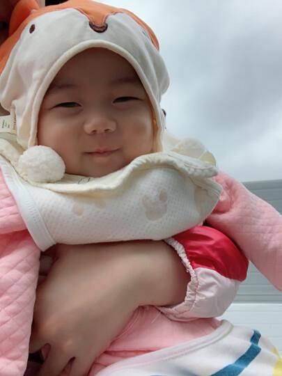 南极人婴儿空气棉马甲儿童夹棉背心宝宝春秋款保暖衣服外出款 提花小熊-卡其 90CM 晒单图