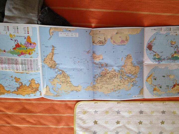 中国地图+世界地图(套装2册组合 防水 耐折 撕不烂地图 折叠图 1000mm*700mm) 晒单图